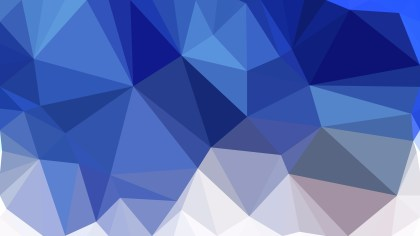 Blue and White Polygonal Triangular Background