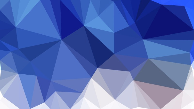 Blue and White Polygonal Triangular Background