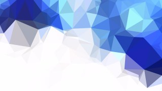Abstract Blue and White Polygon Triangle Background