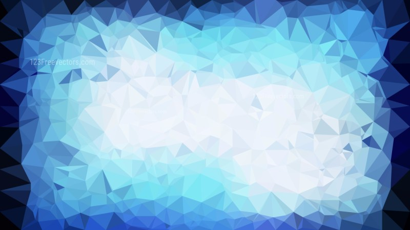 Blue and White Low Poly Background Template Design
