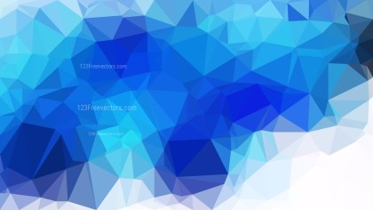 Abstract Blue and White Polygon Background Vector