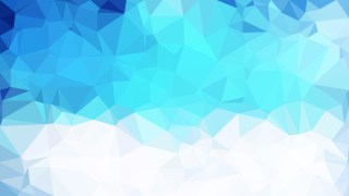 Abstract Blue and White Low Poly Background Illustration