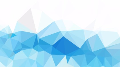 Abstract Blue and White Low Poly Background Template Design