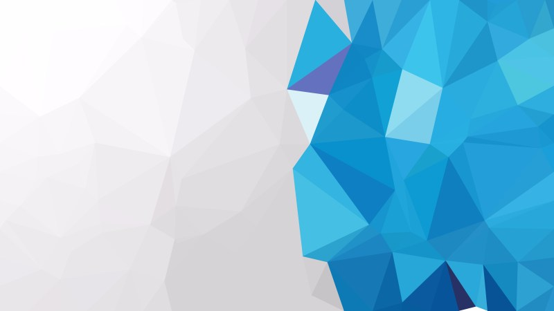 Abstract Blue and White Polygonal Triangle Background Illustrator
