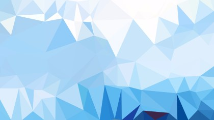 Abstract Blue and White Polygonal Triangular Background Vector Illustration