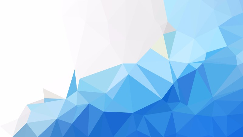 Blue and White Low Poly Background Design
