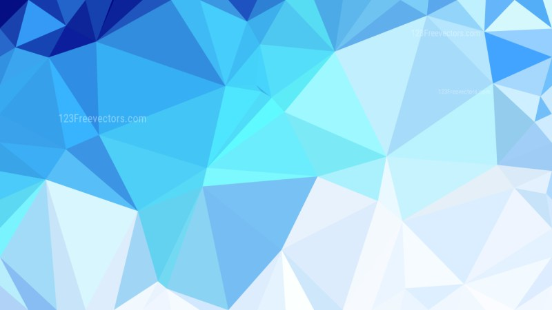 Abstract Blue and White Low Poly Background Design