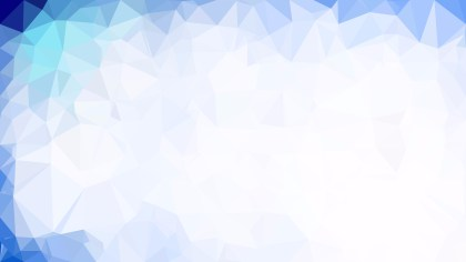 Abstract Blue and White Polygonal Background Design