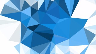 Blue and White Polygon Background Template