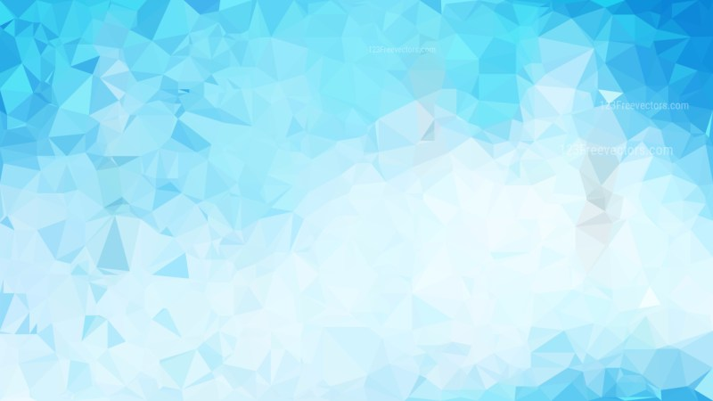 Abstract Blue and White Polygonal Triangular Background