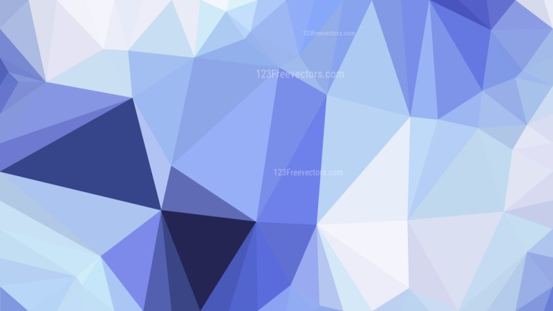Blue and White Polygonal Background