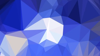 Blue and White Polygon Background Graphic