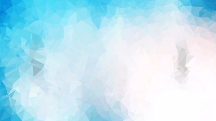 Blue and White Polygon Triangle Pattern Background