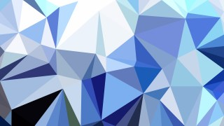 Blue and White Polygon Pattern Abstract Background Vector Illustration