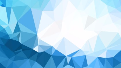 Blue and White Triangle Geometric Background Illustration