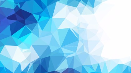 Abstract Blue and White Triangle Geometric Background Vector