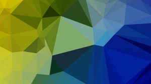 Blue and Yellow Polygonal Triangle Background