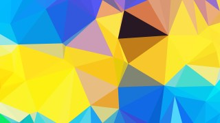 Abstract Blue and Yellow Polygon Background
