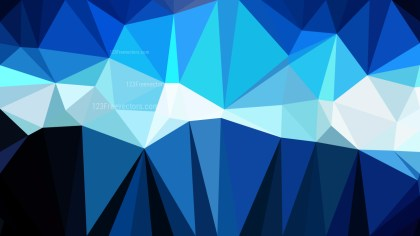Blue Black and White Polygon Triangle Background Vector Image