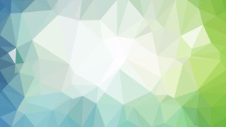 Abstract Blue Green and White Low Poly Background Design Vector Graphic