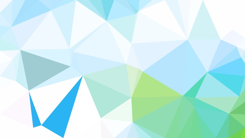 Blue Green and White Low Poly Abstract Background Design Illustrator