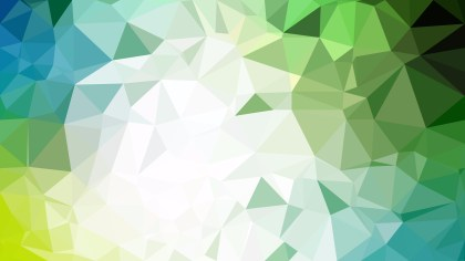 Blue Green and White Polygonal Abstract Background Design Vector Illustration