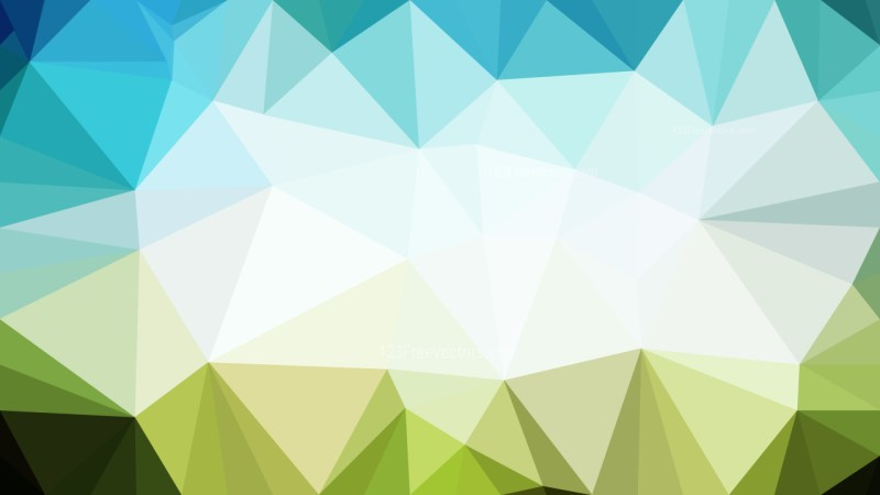 Blue Green and White Polygon Abstract Background