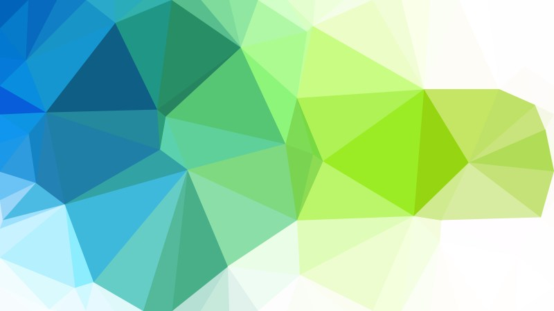 Blue Green and White Polygon Pattern Abstract Background