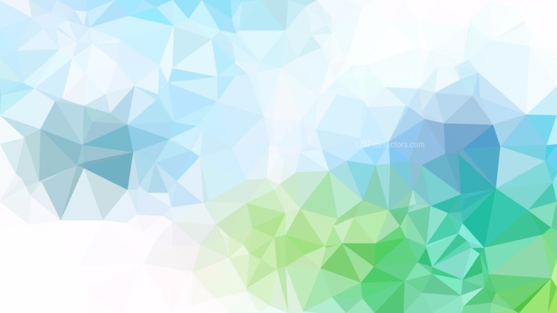 Abstract Blue Green and White Triangle Geometric Background Illustration