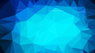 Bright Blue Polygonal Background Template