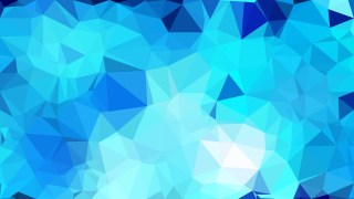 Bright Blue Polygon Pattern Background