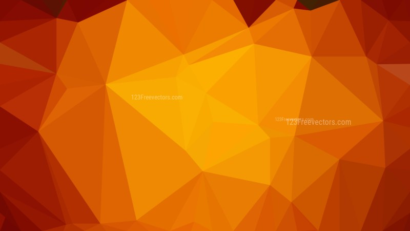 Bright Orange Polygonal Background Vector Image