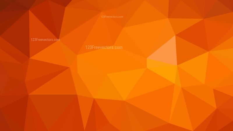 Abstract Bright Orange Low Poly Background Design Illustrator