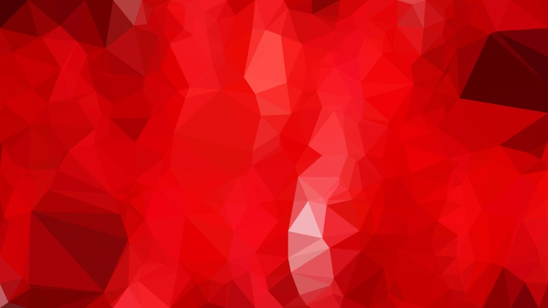Bright Red Polygon Background Graphic Design