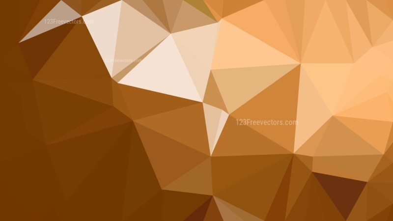 Brown Polygon Triangle Background Vector Illustration