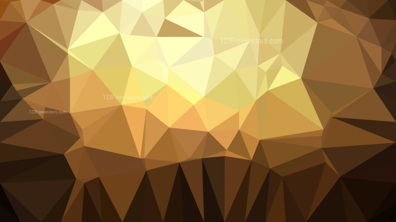 Brown Polygon Background Graphic Design Illustration