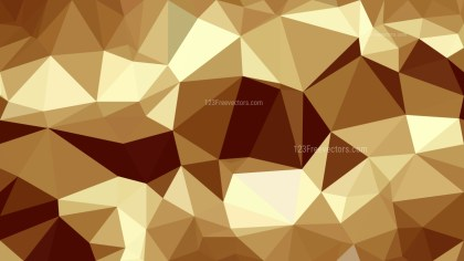 Brown Low Poly Background Design Vector
