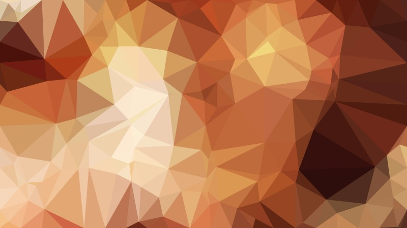 Brown Geometric Polygon Background Graphic