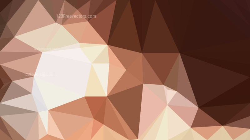 Brown Low Poly Background Template