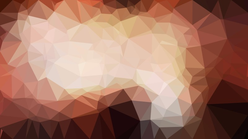 Brown Polygonal Triangle Background