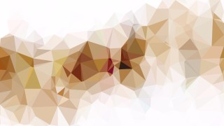 Brown and White Low Poly Abstract Background Design
