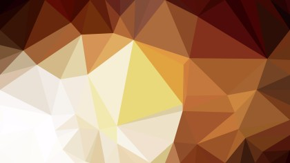 Brown and White Low Poly Abstract Background Design Vector