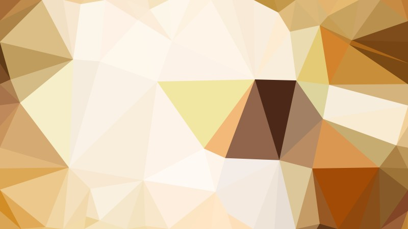 Brown and White Low Poly Abstract Background