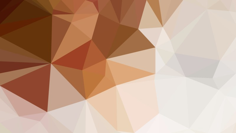 Brown and White Geometric Polygon Background
