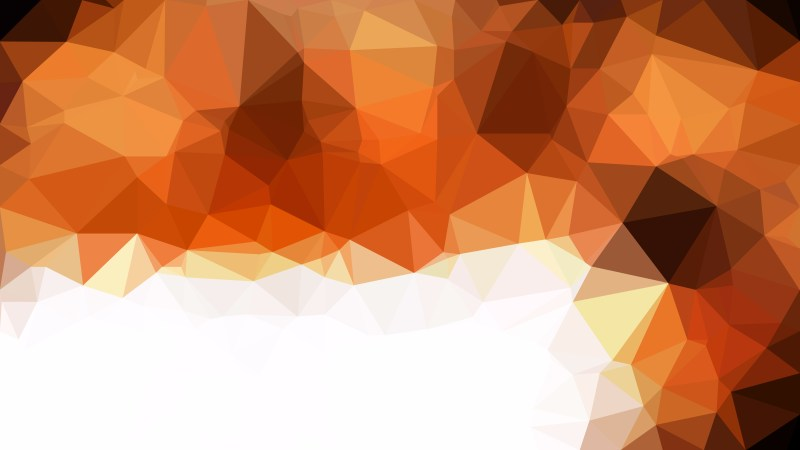 Brown and White Polygon Pattern Abstract Background Vector Illustration