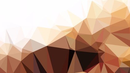 Abstract Brown and White Low Poly Background