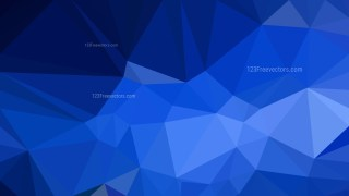 Abstract Cobalt Blue Low Poly Background