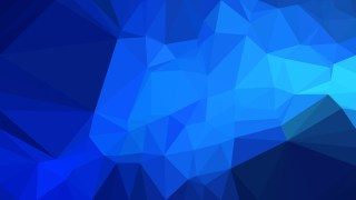 Cobalt Blue Polygonal Abstract Background Vector Illustration