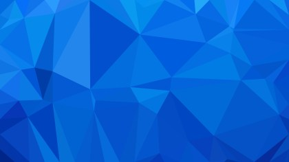 Cobalt Blue Low Poly Background Design