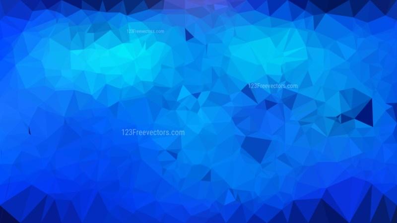 Cobalt Blue Low Poly Background Illustration